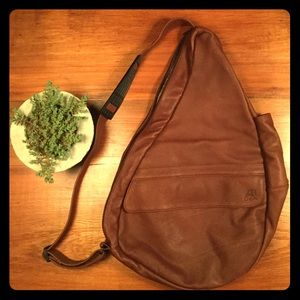 Ameribag Leather Healthy Back Sling Bag NWOT